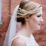 bridal updo side portrait