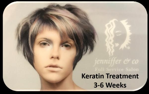 Keratin Treatment 3-6 Weeks